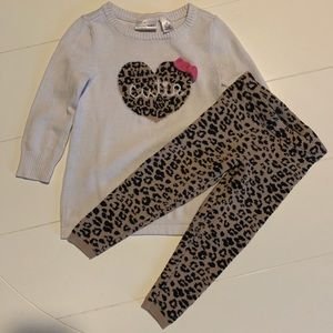 Jumping Bean girls 2T sweater and pants set